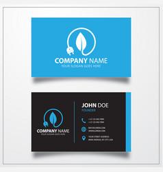 Energy saving icon business card template vector