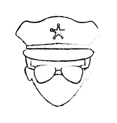 figure police face icon image vector image