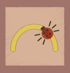Flat shading style icon kids ladybug vector