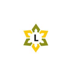Flower infinity letter l vector