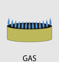Gas icon flat design concept vector image