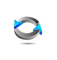 Glossy circular arrow vector