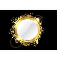 gold mirror vector image