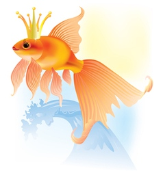 Goldfish in the crown vector