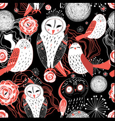 graphic pattern owl vector image