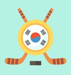 Hockey in South Korea vector image