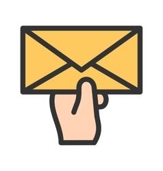 Holding Envelop vector