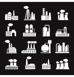 Industry manufactory buildings factory and plant vector image