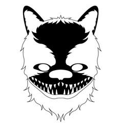 Isolated halloween werewolf mask vector