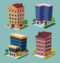 isometric building 2 vector image