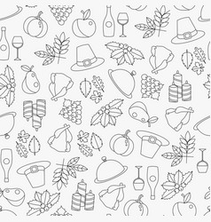 line seamless pattern of thanksgiving vector image