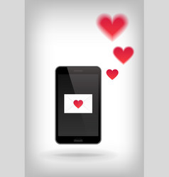 Love on phone vector