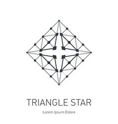 Modern stylish logo Design element logotype vector image