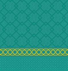 Oriental green arabic seamless pattern set vector image