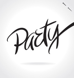PARTY hand lettering vector image