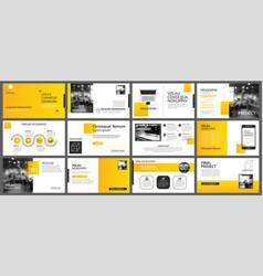 presentation and slide layout background design vector image