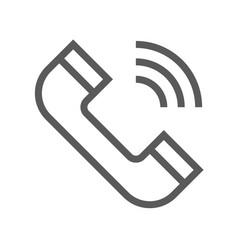 public navigation line icon phone vector image