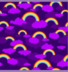 Rainbow seamless pattern vector