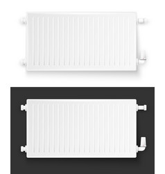 realistic heating system radiator vector image