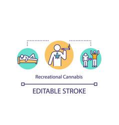 recreational cannabis concept icon vector image
