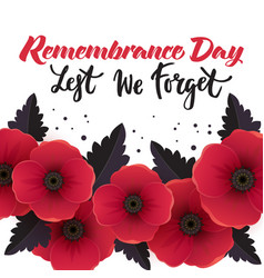 remembrance day poster vector image