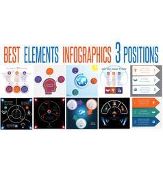 set 10 universal templates elements infographics vector image