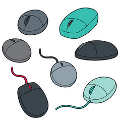 set of computer mouse vector image
