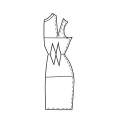 Sewing pattern vector