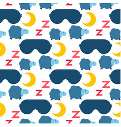 Sleep icons seamless pattern vector