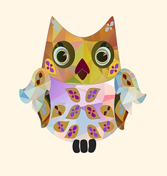 Small polygonal owl vector