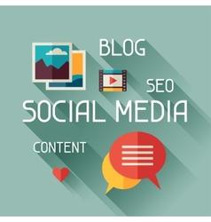 Social media concept in flat design vector image