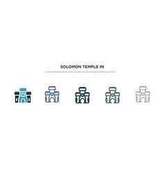 Solomon temple in jerusalem icon in different vector