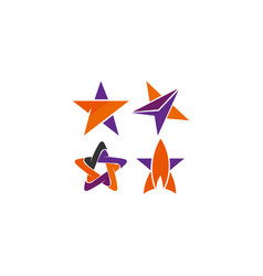 star icon with slightly rounded corners vector image