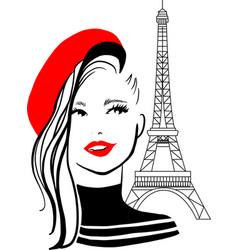 stylish beautiful model for fashion design doodle vector image