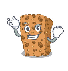 Successful granola bar character cartoon vector
