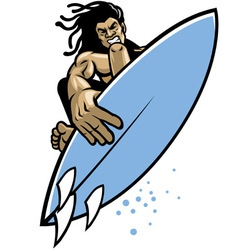 surfer in action vector image vector image