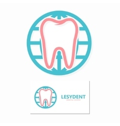 Tooth and world logo template vector