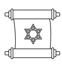 Traditional torah icon vector