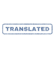 Translated textile stamp vector