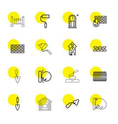 wall icons vector image