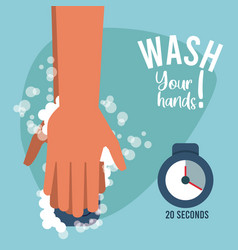 Wash your hands campaign poster vector