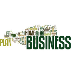 Your business plan will become your partnertxt vector