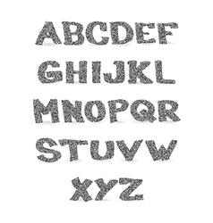 Alphabet letters vector image