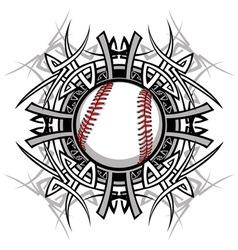 Baseball Softball Tribal Graphic Image vector image