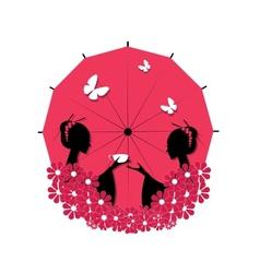 Cute Asian Girls Character vector image