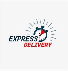 express delivery logo timer and express delivery vector image