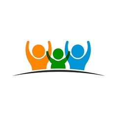 People Family logo vector image