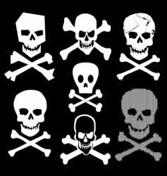 skull and cross bones vector image vector image