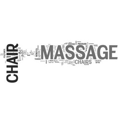 what to look for in a home massage chair text vector image vector image