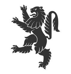 Black Attacking Lion vector image vector image